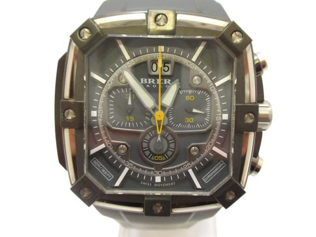 【中古】 セレクション ブレラ スーパースポルティーボ スクエア ウォッチ 腕時計 時計 メンズ ステンレススチール(SS)×ラバーベルト (BRSS2C4602) ブランドオフ(201801) | 送料無料 メンズ腕時計 ブランド腕時計 ブランド おしゃれ