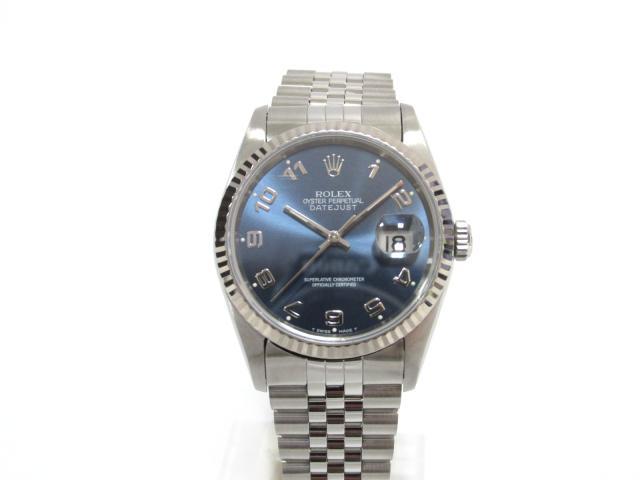 【ポイント10倍!エントリー必須】【中古】ロレックス デイトジャスト 腕時計 ウォッチ 時計 メンズ K18WG(750)ホワイトゴールド x シルバー (16234) (201803) | 送料無料 メンズ腕時計 ブランド腕時計 ブランド おしゃれ