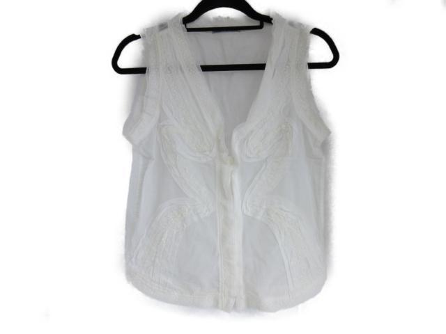 【中古】セレクション ISSEY MIYAKE ノースリーブシャツ 衣料品 レディース 綿 ホワイト (201805)