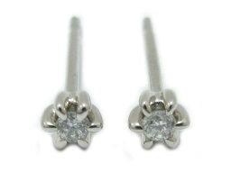 珠寶1粒鑽石無環耳環未注册商標珠寶男女兩用PT900白金x鑽石(0.025ct/0.025ct)