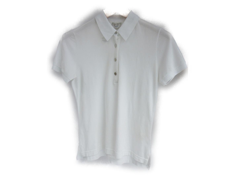 【中古】エルメス 半袖ポロシャツ 衣料品 レディース コットン ホワイト (201806)