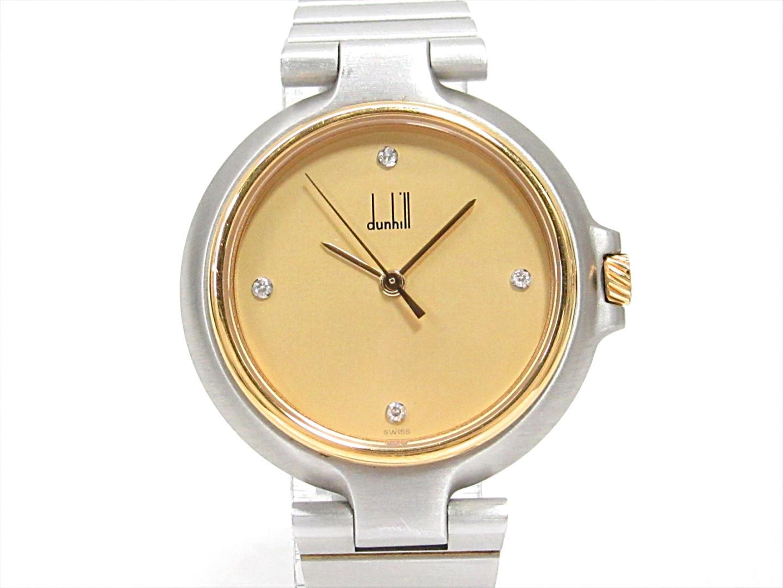 【中古】 ダンヒル ミレニアム 腕時計 ウォッチ レディース ステンレススチール(SS)xGPxダイヤモンド(4P) | dunhill BRANDOFF ブランドオフ 女性 女 ブランド ブランド時計 ブランド腕時計 時計