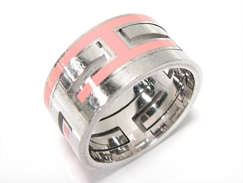 【中古】エルメス ムーブアッシュリング 指輪 12.5号 刻印#53 アクセサリー シルバー(925) ピンク シルバー