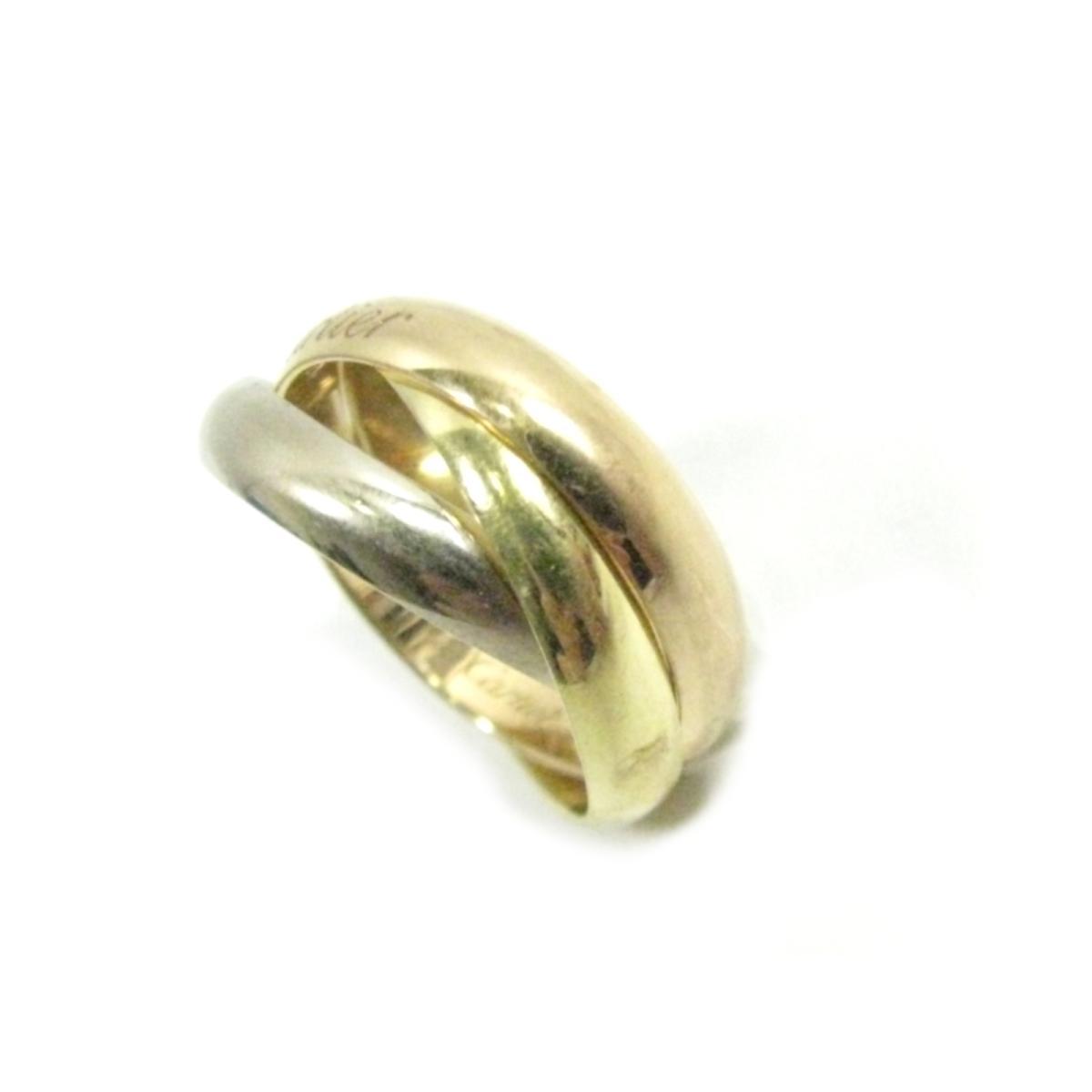 【中古】カルティエ トリニティリング 指輪 10号 刻印#50 貴金属 宝石 ブランドジュエリー レディース K18YG(750) イエローゴールドXK18PG(750)XK18WG(750) ゴールドXピンクゴールドXシルバー