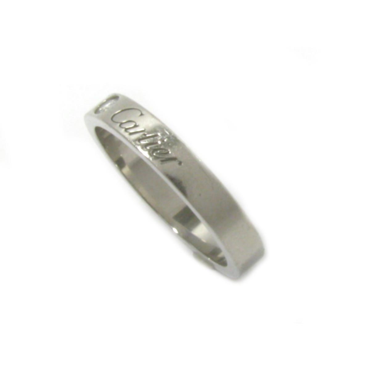 【中古】カルティエ エングレーブドダイヤリング 指輪 11号 刻印#51 ブランドジュエリー レディース PT950 プラチナ シルバー