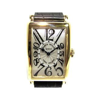 Authentic FRANCK MULLER Long Island Watch 952 QZ Quartz K18YG (750) Yellow Gold