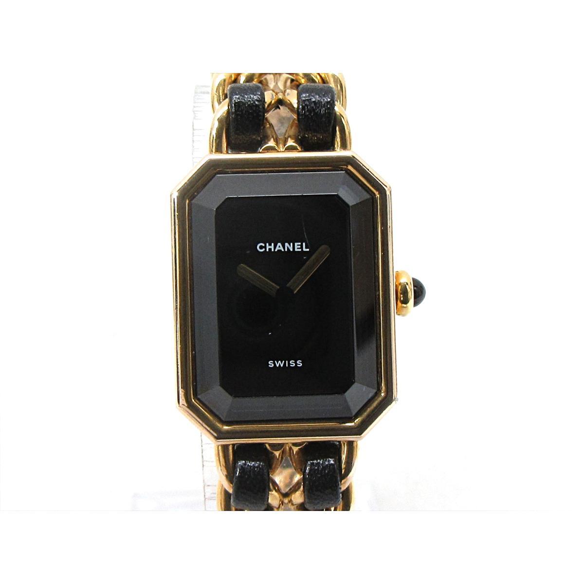 シャネル プルミエールL 腕時計 ウォッチ 時計 レディース GP レザーベルト (H0001) 【中古】 | CHANEL BRANDOFF ブランドオフ ブランド ブランド時計 ブランド腕時計