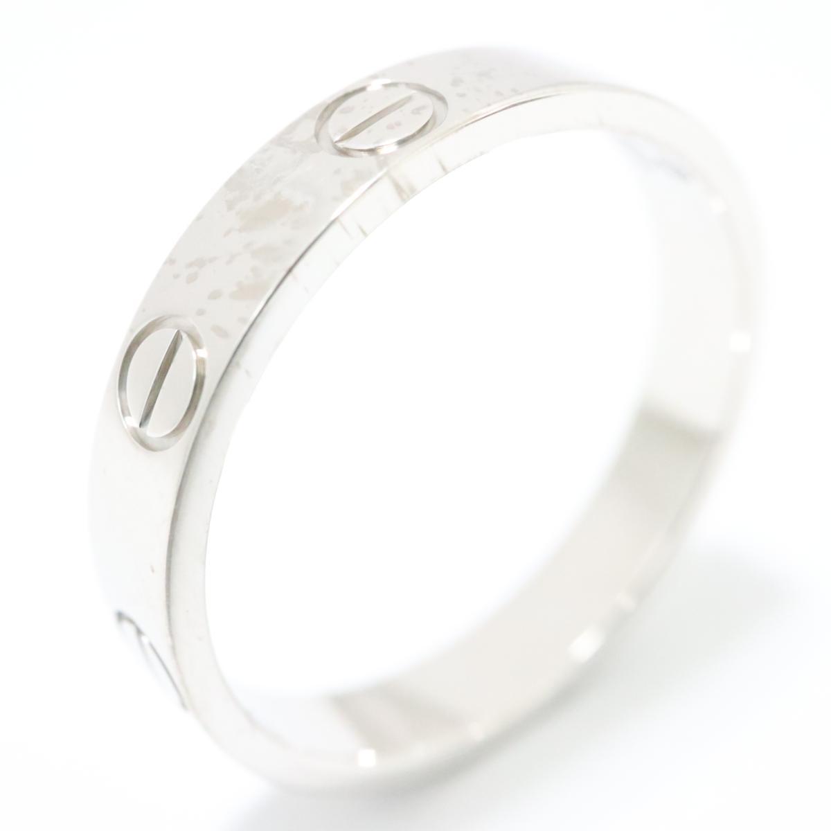 カルティエ ミニラブリング 指輪 ブランドジュエリー レディース K18WG -750 ホワイトゴールド シルバー【中古】 | Cartier BRANDOFF ブランドオフ ブランド ジュエリー アクセサリー リング