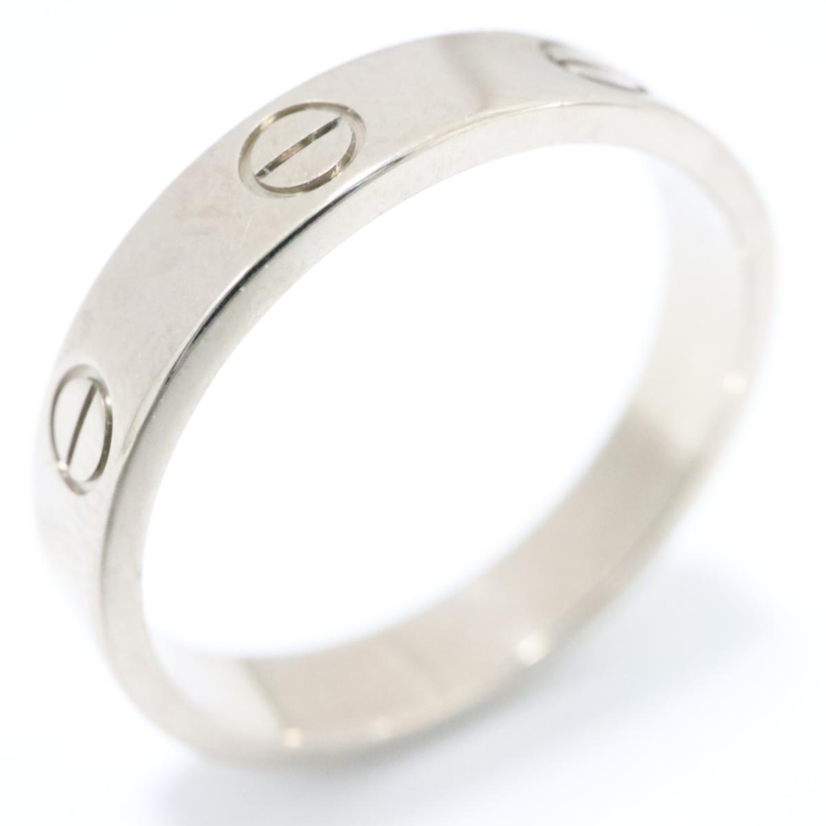 カルティエ ミニラブリング 指輪 ブランドジュエリー メンズ レディース K18WG -750 ホワイトゴールド シルバー【中古】 | Cartier BRANDOFF ブランドオフ ブランド ジュエリー アクセサリー リング