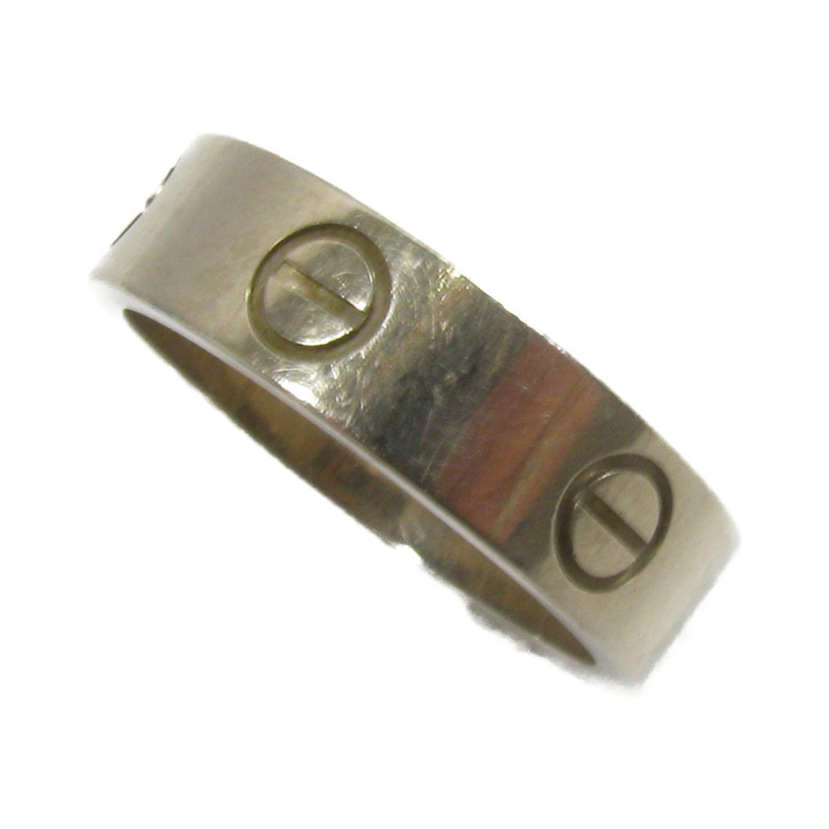 カルティエ ラブリング 指輪 ブランドジュエリー メンズ レディース K18WG -750 ホワイトゴールド シルバー 【中古】 | Cartier BRANDOFF ブランドオフ ブランド ジュエリー アクセサリー リング