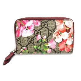 14865fd432e2 【中古】 グッチ GGブルームス 花柄 アンティークローズ コインケース カードケース 財布 レディース