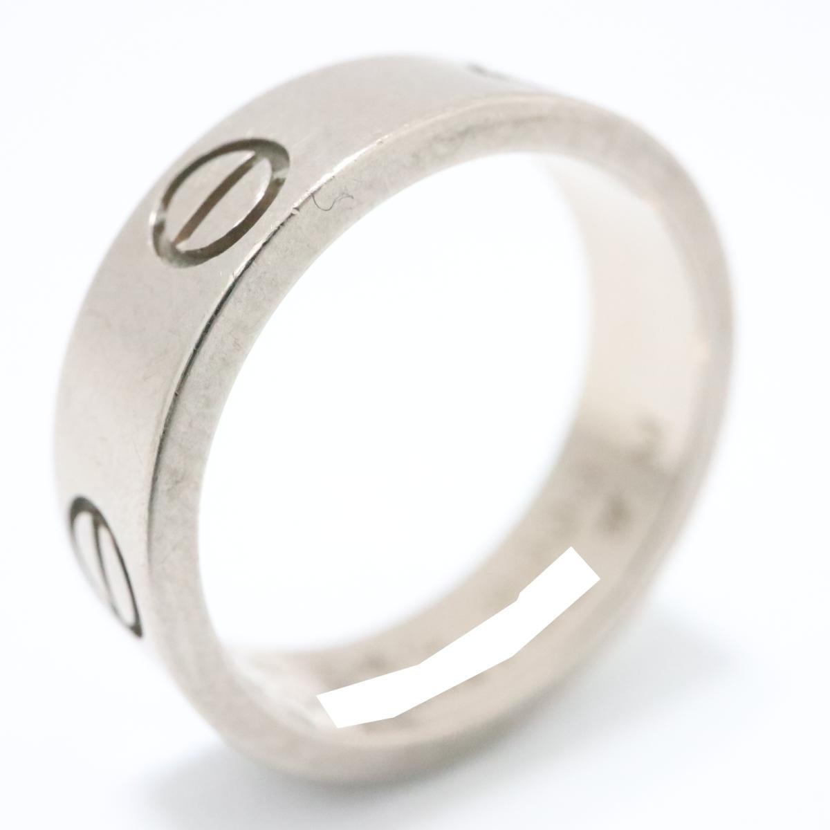カルティエ ラブ リング LOVE 指輪 ブランドジュエリー レディース K18WG'( 750) ホワイトゴールド シルバー 【中古】 | Cartier BRANDOFF ブランドオフ ブランド ジュエリー アクセサリー