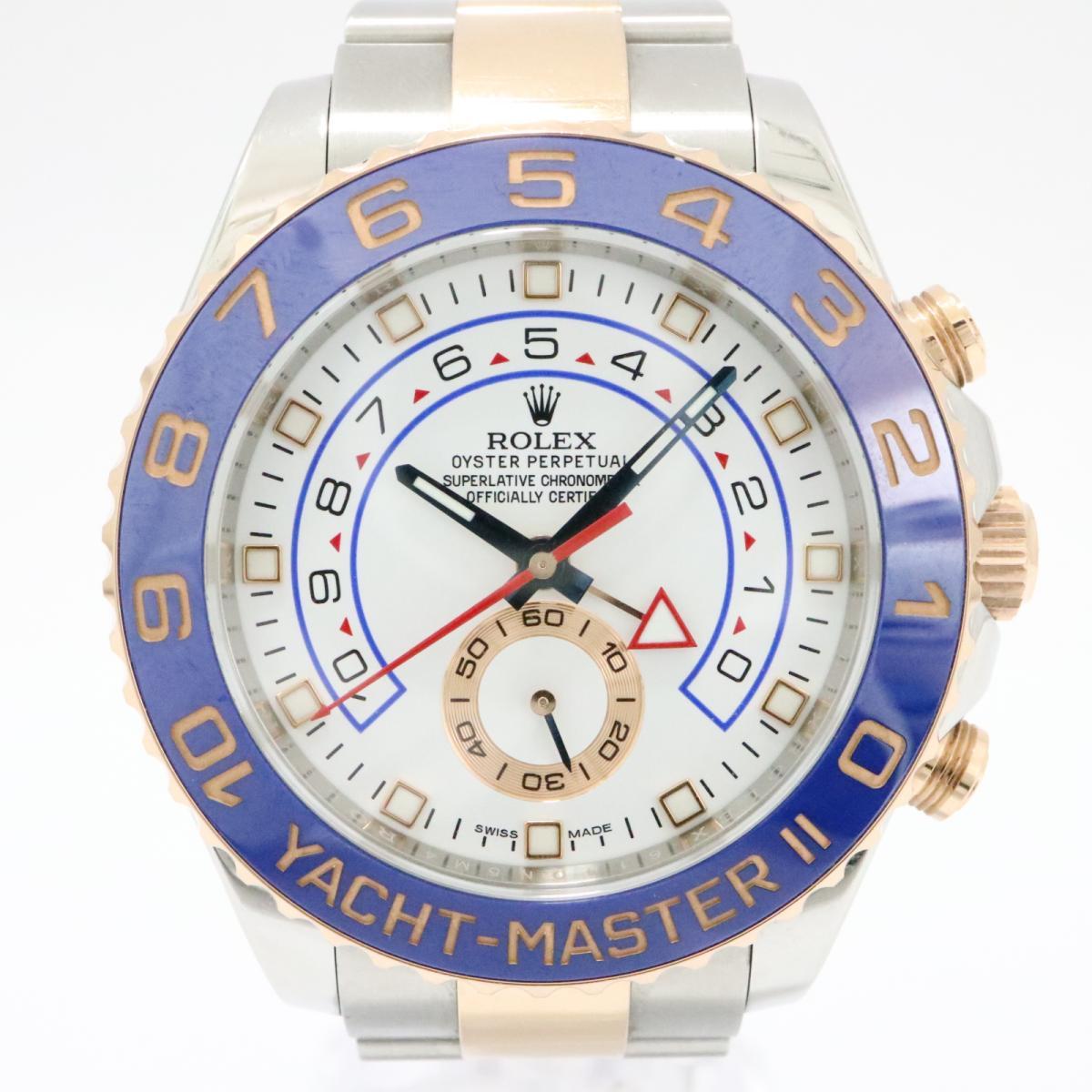 ロレックス ヨットマスター2 腕時計 時計 メンズ ステンレススチール (SS) x ピンクゴールド ホワイト -116681 【中古】 | ROLEX BRANDOFF ブランドオフ ブランド ブランド時計 ブランド腕時計 ウォッチ