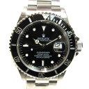 【中古】ロレックス サブマリーナ 腕時計 ウォッチ 時計 メンズ ステンレススチール (SS) シルバーxブラック (16610)   ROLEX BRANDO...