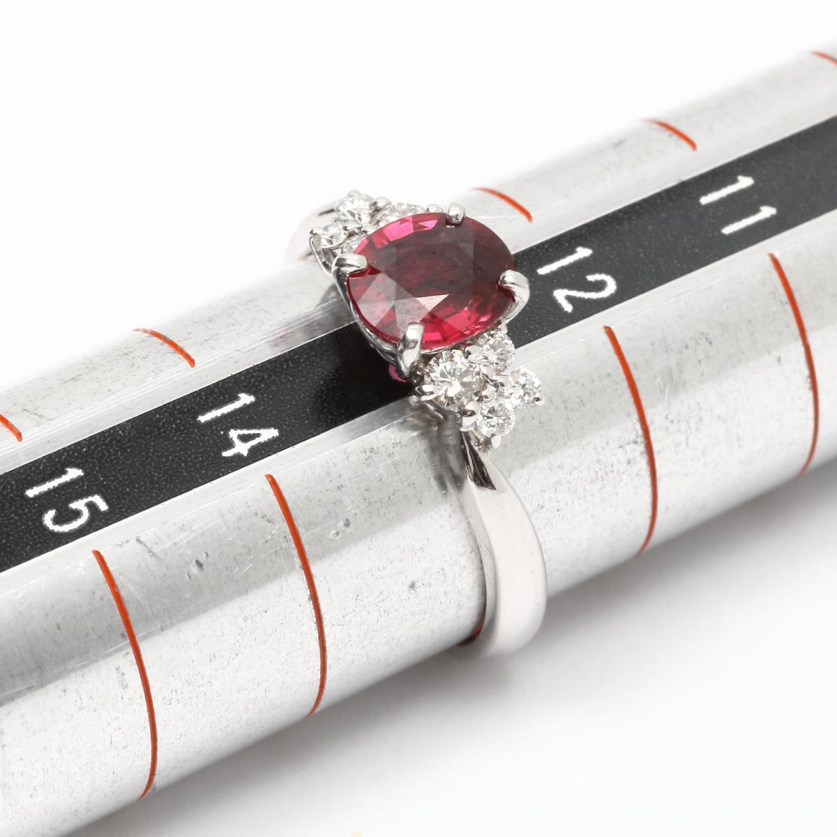 ジュエリールビーダイヤモンドリング指輪ノーブランドジュエリーレディースPT900プラチナx(1.027ct)(0.21ct)【】 <a href=