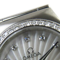 【中古】オメガコンステレーション160yearsダイヤベゼル/12Pダイヤウォッチ腕時計時計レディースステンレススチール(SS)(111.15.26.60.55.001)