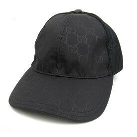 グッチ ベースボールキャップ 帽子 衣料品 メンズ レディース ナイロン x レーヨン 綿 ブラック (510950) 【中古】   GUCCI BRANDOFF ブランドオフ ブランド キャップ