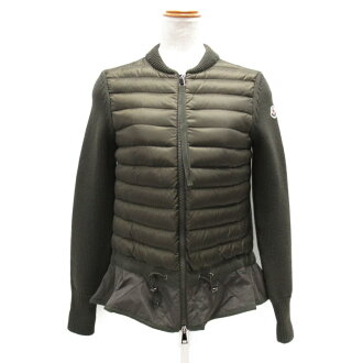Auth MONCLER MAGLIONE TRICOT CARDIGAN jacket Nylon wool Khaki Used Vintage size XS   BRANDOFF Ginza/TOKYO/Japan