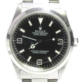 ロレックス エクスプローラー1 腕時計 ウォッチ 時計 メンズ ステンレススチール (SS) ブラック (14270) 【中古】   ROLEX BRANDOFF ブランドオフ ブランド ブランド時計 ブランド腕時計