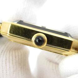 【中古】シャネルプルミエールSウォッチ腕時計時計レディースGPxレザーベルト(H0001)