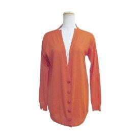 【中古】ステラ マッカートニー カーディガン 衣料品 レディース 100%ウール オレンジ×グレー