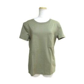【中古】エルメス Tシャツ 衣料品 レディース コットン100% ダークカーキ