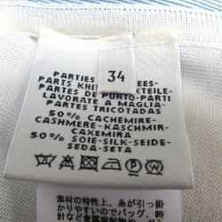 【中古】エルメストップス衣料品レディースシルク(50%)xカシミア(50%)ホワイトxブルーxパープルxブラウン