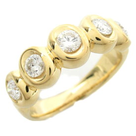 【中古】ジュエリー ダイヤモンド リング 指輪 ノーブランドジュエリー レディース 18Kイエローゴールド x ダイヤモンド0.52ct