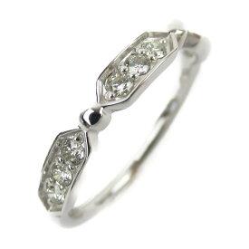 【中古】ジュエリー ダイヤモンド リング 指輪 ノーブランドジュエリー レディース K18WG(750) ホワイトゴールド x ダイヤモンド0.15ct
