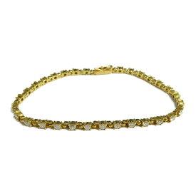 【中古】ジュエリー ダイヤモンド ブレスレット ノーブランドジュエリー レディース ダイヤモンド2.01ct x K18(イエローゴールド)