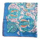 【中古】エルメス カレ90 スカーフ 衣料品 ユニセックス シルク ブルーXマルチカラー