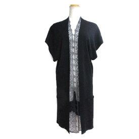 【中古】ヴァレンチノ ジレ 衣料品 レディース ウール(レース部分:シルク) ネイビー