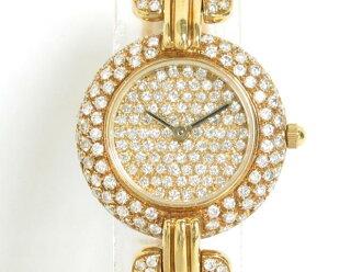 GARAVELLI (가라베리)/손목시계 워치/쿼츠//K18YG(750) 옐로우 골드×다이아몬드/[BRANDOFF/브랜드 오프]
