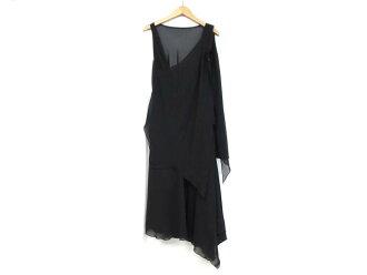 MAITRESSE(메트리제)/노 슬리브 원피스 드레스/의류/블랙/폴리에스텔100%/ 브랜드 오프