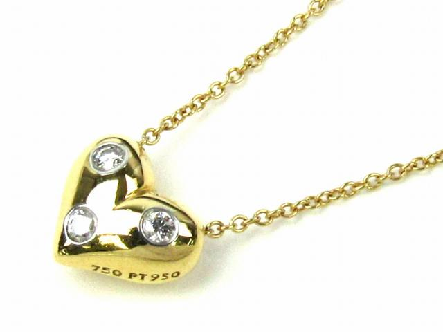 TIFFANY&CO(ティファニー)/ドッツハートネックレス ダイヤモンド/ネックレス/K18YG(750) イエローゴールド ダイヤモンド/【ランクA】[BRANDOFF/ブランドオフ]【中古】