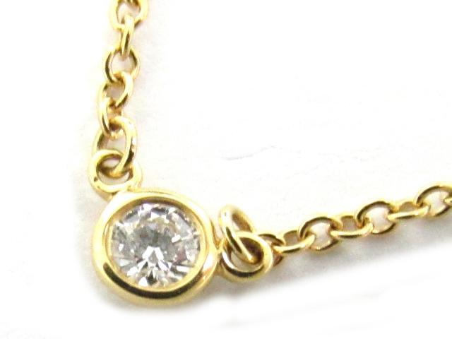 TIFFANY&CO(ティファニー)/バイザヤードネックレス 1Pダイヤ/ネックレス/K18YG(750) イエローゴールド x ダイヤモンド/【ランクA】[BRANDOFF/ブランドオフ]【中古】
