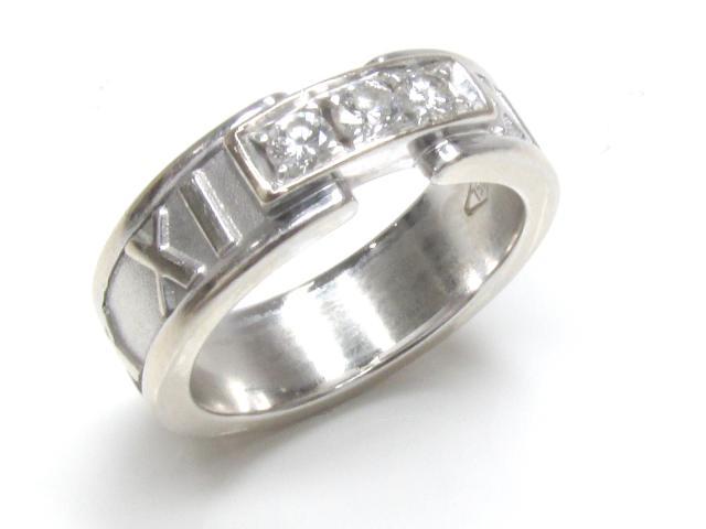 TIFFANY&CO(ティファニー)/アトラスダイヤリング 指輪/リング/K18WG(750) ホワイトゴールド×ダイヤモンド(石目表示無し)/【ランクA】/6.5号[BRANDOFF/ブランドオフ]【中古】