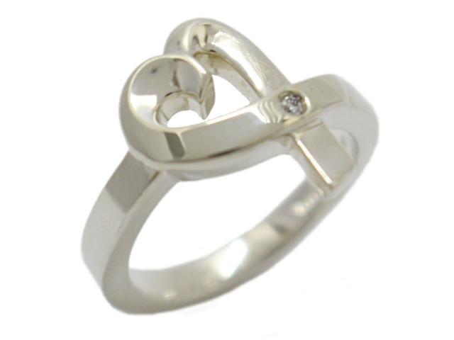 【中古】ティファニー ラビングハートリング 1Pダイヤモンド 指輪 レディース スターリングシルバー(925) ×ダイヤモンド