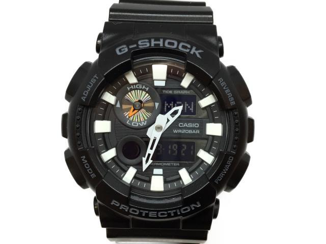 カシオ G-SHOCK 時計 デジタル メンズ ラバー ブラック (GAX100B1ADR)