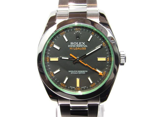 【送料無料】【中古】ロレックス ミルガウス 腕時計 ウオッチ メンズ ステンレススチール(SS) シルバー×ブラック×グリーン (116400GV) | ROLEX オートマチック 美品 ブランドウォッチ ブランド時計 WATCH ブランド BRANDOFF ブランドオフ