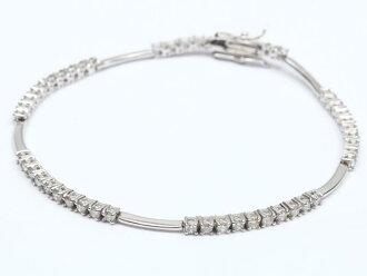 JEWELRY Diamond Bracelet K18WG (750) White Gold x Diamond (1.5 ct)