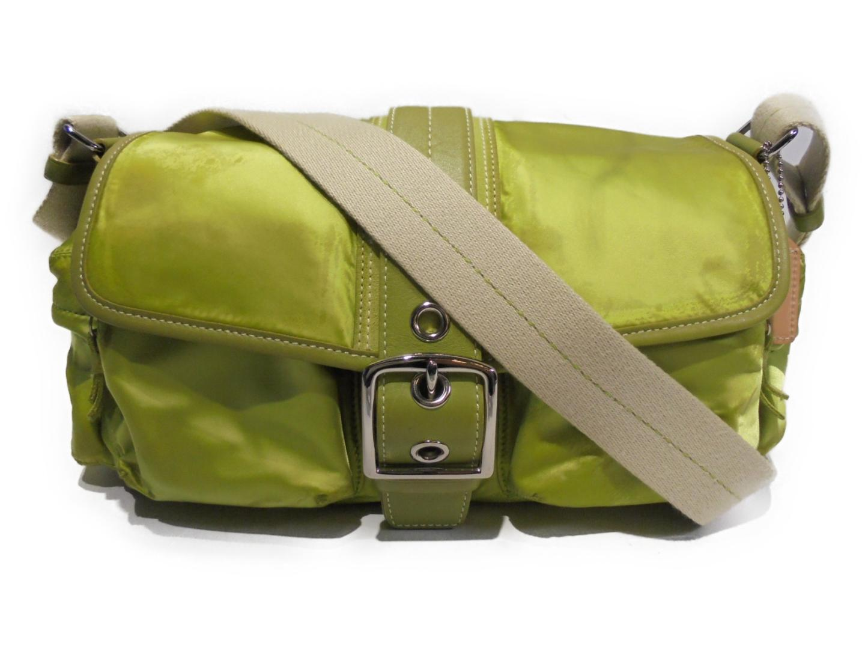 【中古】コーチ ショルダーバッグ レディース ナイロン グリーン (1897) | COACH ショルダー 肩掛け バッグ バック BAG 鞄 カバン ブランドバッグ ブランド ブランドオフ BRANDOFF
