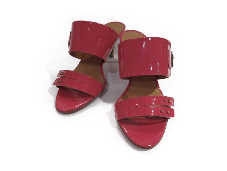 【中古】【送料無料】エルメス ミュール レディース エナメル ピンク | HERMES くつ 靴 美品 ブランド ブランドオフ BRANDOFF