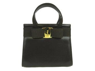 萨尔瓦托雷·Ferragamo挎包(没有罢工)女子的皮革暗褐色