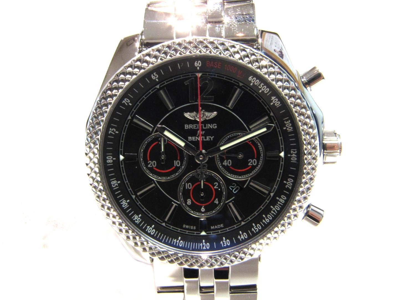 【中古】【送料無料】ブライトリング ベントレーバーナート42 腕時計 ウォッチ メンズ ステンレススチール (SS) ブラック × シルバー (A419B82FL) | BREITLING オートマチック 自動巻き 時計 腕時計 ベントレーバーナート42 美品 ブランド ブランドオフ BRANDOFF
