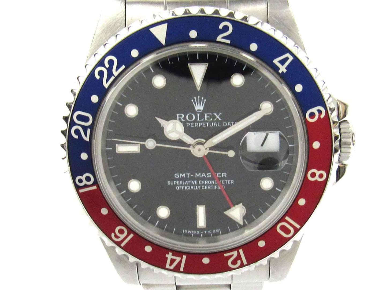 【中古】 【送料無料】 ロレックス GMTマスター1 ウォッチ 腕時計 メンズ メンズ ステンレススチール (SS) (16700)   ROLEX オートマチック 時計 腕時計 GMTマスター 美品 ブランド ブランドオフ BRANDOFF