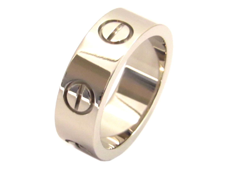 【中古】 【送料無料】 カルティエ ラブリング 指輪 レディース K18WG (750) ホワイトゴールド シルバー | Cartier リング 18K K18 18金 ラブリング ブランド ブランドオフ BRANDOFF