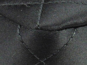 【中古】シャネルマトラッセチェーンショルダーバッグレディースレザーxサテンブラック
