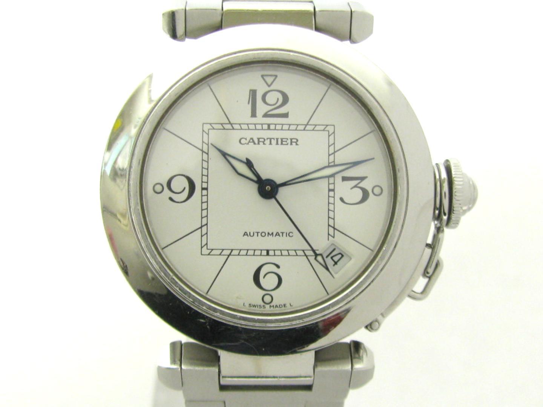 【中古】【送料無料】 カルティエ パシャC ウォッチ 腕時計 メンズ レディース ステンレススチール (SS) ホワイト (2324)   Cartier オートマチック 自動巻き 時計 パシャC 美品 ブランドオフ BRANDOFF