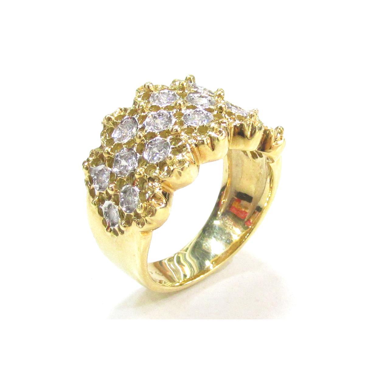 【中古】【送料無料】 ポンテヴェキオ ダイヤモンドリング 指輪 レディース K18YG (750) イエローゴールド x ダイヤモンド (0.50ct) | LOUIS VUITTON ヴィトン ビトン ルイ・ヴィトン リング K18 18K 18金 ダイヤリング 美品 ブランドオフ